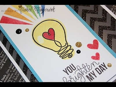 Simon Says Stamp April 2014 Card Kit | You Brighten My Day