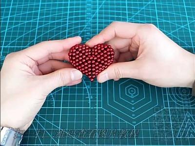 TUTORIAL A heart-1set ( Zen Magnets, Neoballs, Buckyballs, Nanodots, Neocube)