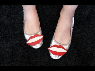 Tutorial DIY: bailarinas con broche intercambiable de labios