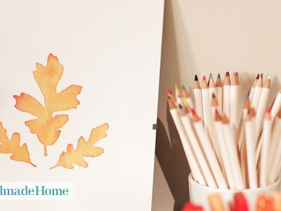 Autumnal Leaf Water Colors - Handmade Home - Martha Stewart