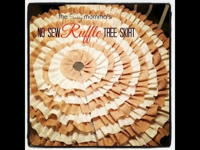 DIY No Sew Ruffle Christmas Tree Skirt- EASY!