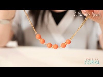 DIY Spring Necklace