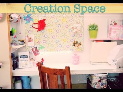 How I Made a Great Crafting Space from a Wardrobe!