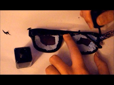 How to customise sunglasses with nail polish