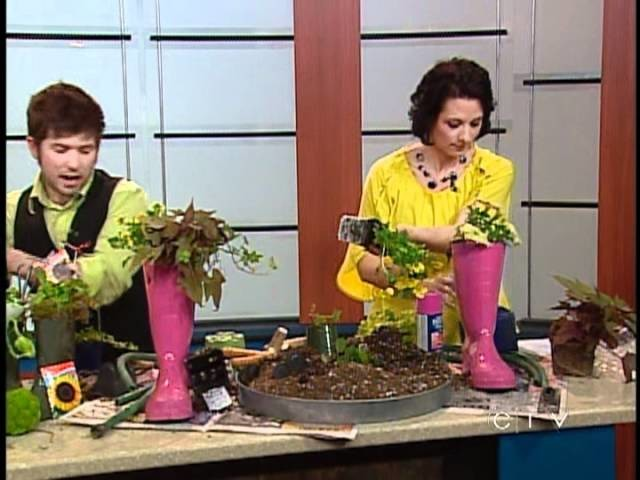 Magical Rubber Boot Table Decoration - CTV Edmonton (May 8, 2012)