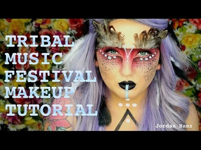 Tribal Music Festival Makeup Tutorial. Jordan Hanz (Coachella EDC)