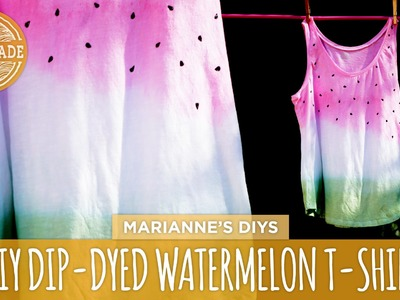 DIY Dip-Dyed Watermelon T-Shirt - HGTV Handmade
