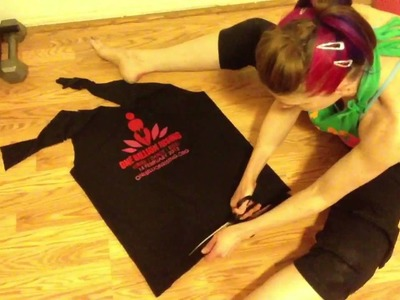 Easy How To Cut T-Shirt Into Halter - No Sewing - onebillionrising Flash Mob Shirt