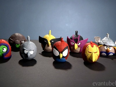 Angry Birds Marvel Superheroes CLAY MODELS!  - Avengers, Wolverine, X-men Clay Figures