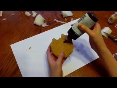 Choco chip cookie squishy tutorial!