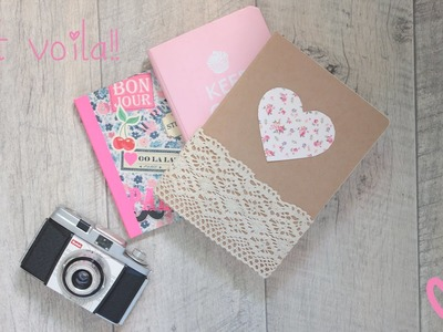 Decorate your notebook ♡ ♡  BACK TO SCHOOL DIY