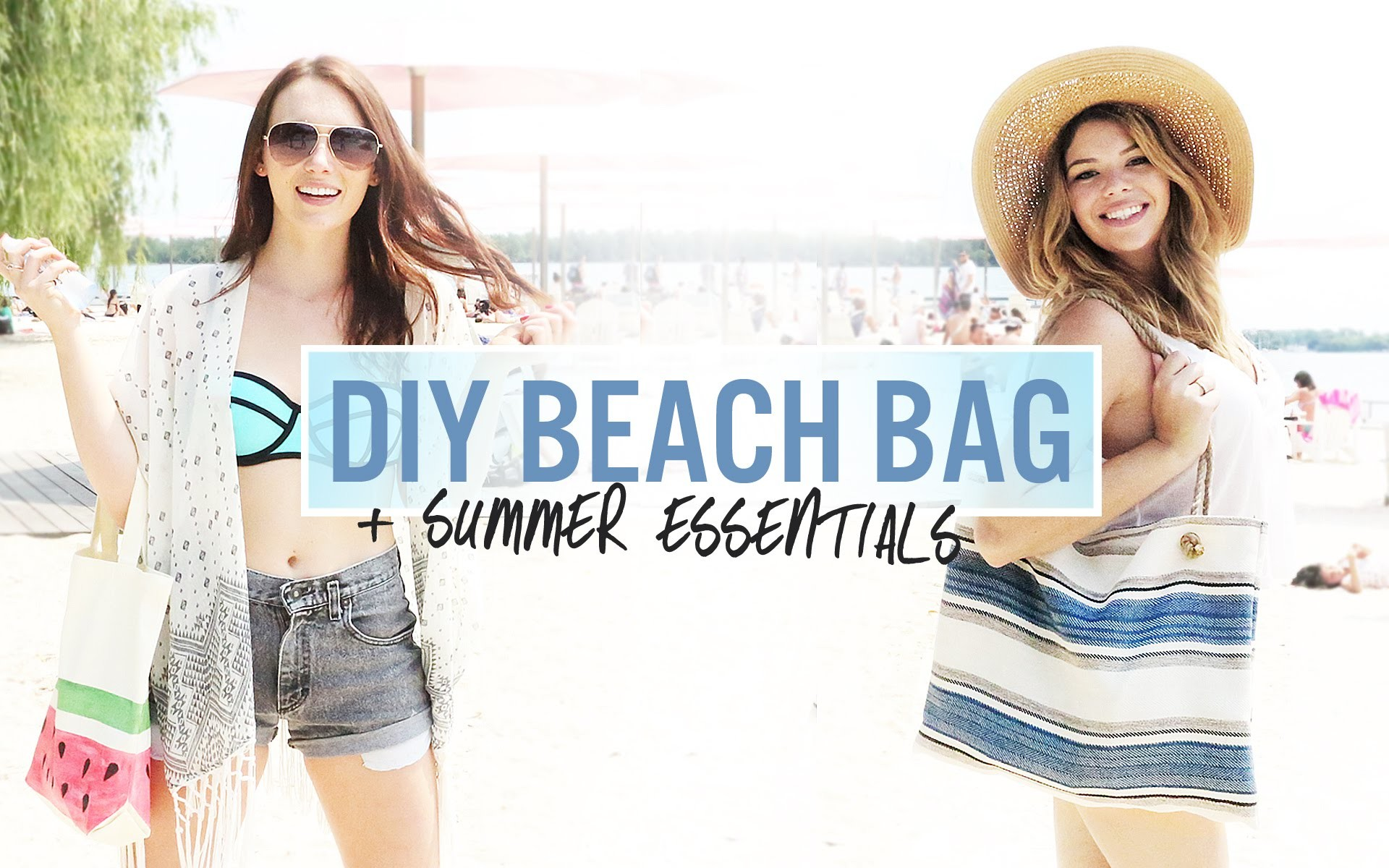DIY BEACH BAGS + SALT SPRAY | THE SORRY GIRLS