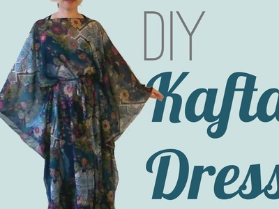 Easy DIY Kaftan Dress. Cover Up