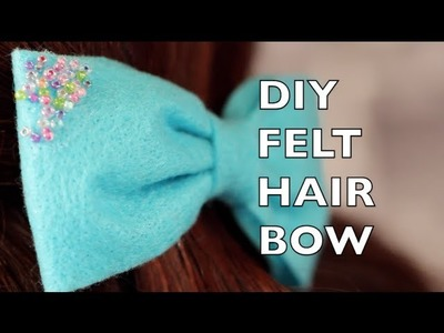 How To Make A Felt Hair Bow