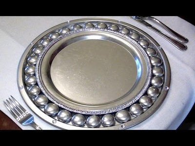 How To Make Antique Silver Charger Plates - Ep3 part2
