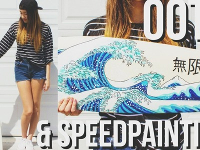 Painting a Longboard + OOTD | ToThe9s