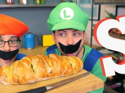 Super Mario Bros Spaghetti Sandwich Recipe