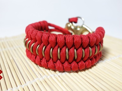 Chain Mail Trilobite Paracord Bracelet Tutorial
