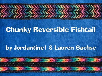Chunky Reversible Fishtail Bracelet - Monster Tail - Rainbow Loom