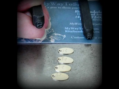 How to make: Metal stamping for jewelry tags