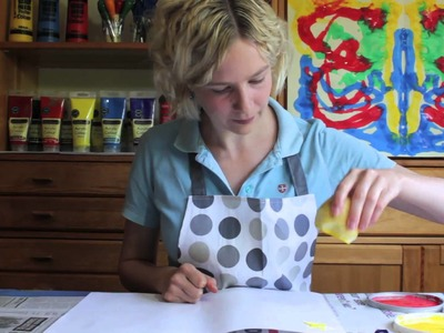 How to Make Potato Printed Wrapping Paper
