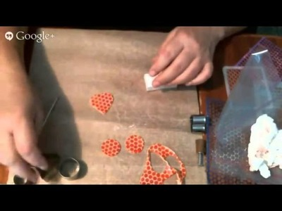 How to stencil on polymer clay with Ilysa