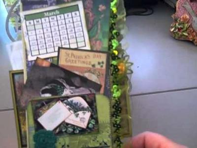 Irish Flip Mini Album Calendar; Little Yellow Bicycle & Blue Awning