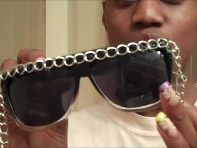 Make Your Own Retro City Chain Sunglasses Dupe
