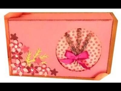 Making custom soap boxes: Lavender & Peppermint