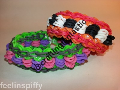 Mini Dippy Dot Bracelet Tutorial by feelinspiffy (Rainbow Loom)