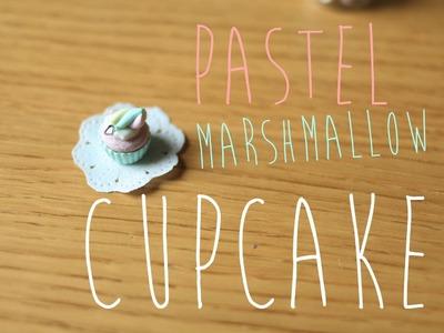 Pastel Marshmallow Cupcake Tutorial - Polymer Clay