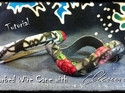 Polymer clay tutorial - Barbed wire Cane