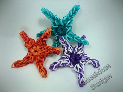 Rainbow Loom Starfish Animal Figure.Charm Tutorial