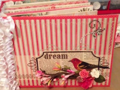 Scrapbookgiggles scrapbook mini album Coral Couture Bulky Bliss Binding Method