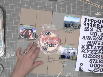 Scrapbooking Process: On Top of the World