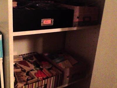 A tour of my new craft room closet