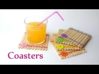 Art & Craft : COASTERS using ice-cream sticks - Innova Crafts