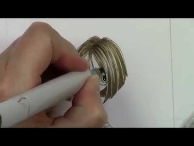 Copic In The Craft Room: Coloring Short Hair