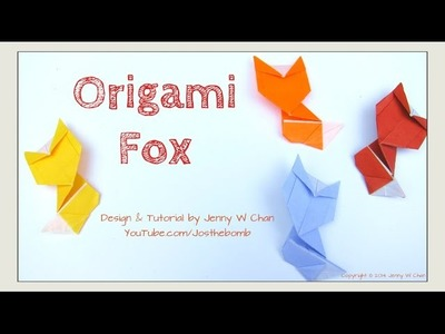 Fall. Autumn Crafts - Origami Fox - How to Fold Paper Fox - Paper Crafts for Kids