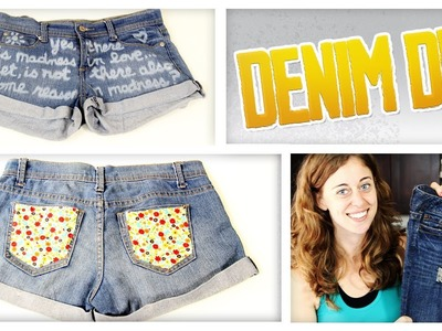 How To Distress Jeans & More Denim DIYs - Do It, Gurl