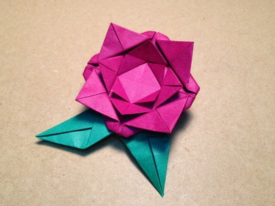 Origami Flower Instructions. Rose. Easy for children
