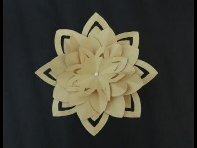 Paper Crafts: How to make a Paper Lotus Flower