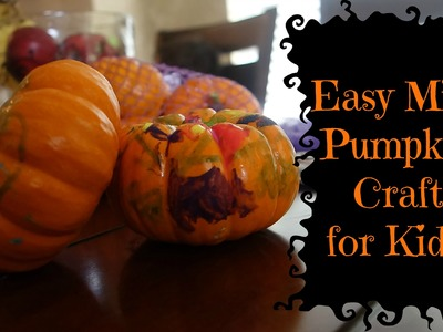 Simple Mini Pumpkin Craft for Kids!