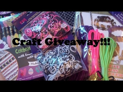 21,000+ Subscribers Craft Giveaway! (CLOSED)!!!!