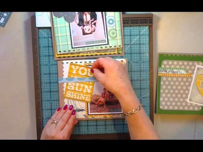 Desktop Flip Style Mini Scrapbook Album Part2