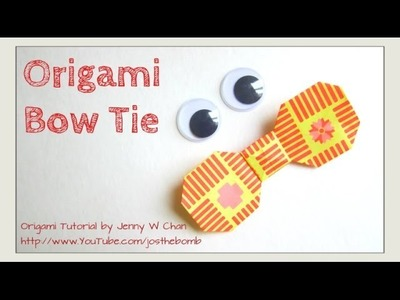 Father's Day Craft - Origami Bow Tie - Paper Bow - How to Make A Paper Bow - Father's Day Gift