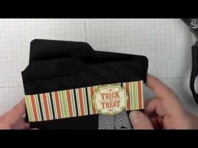 File Folder Card with Envelope Punch Board