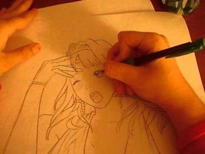 How to Draw Kaluha Shuzen:Rosario+Vampire; By Brianna4001