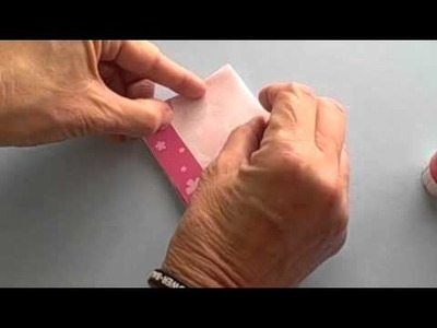 How to fold and glue a star card