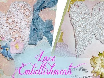 Lace Embellishments Tutorial Plus Cards